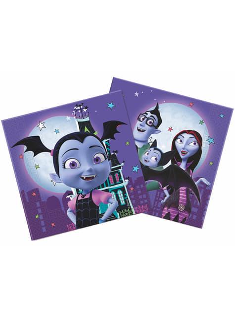Set de 20 servilletas de Vampirina