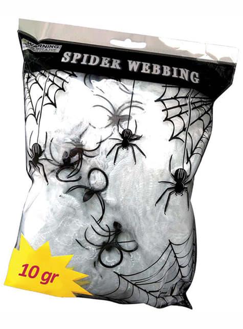 Spinnennetz Dekoration 10 gr