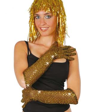 handschoenen met gouden briljantjes