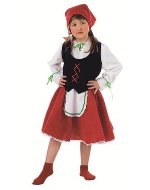 Costum de păstoriță fată