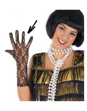 Rękawiczki ażurowe czarne