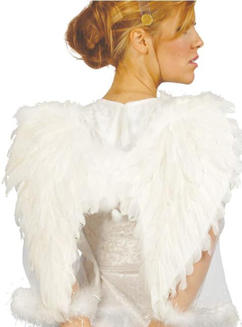 Alas de ángel con plumas blancas