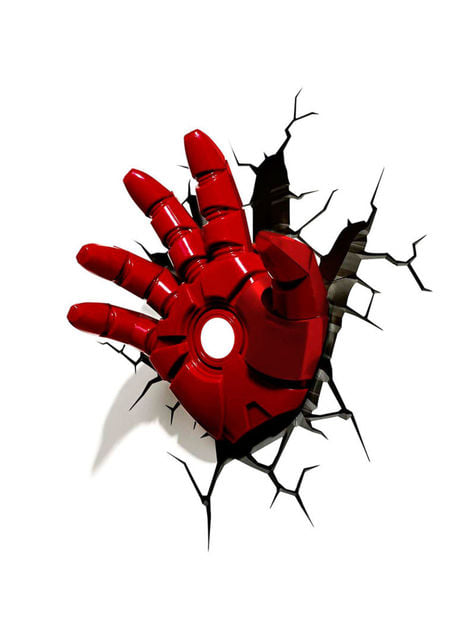 Iron Man Hand 3d Deco Wall Lamp Official For Fans Funidelia