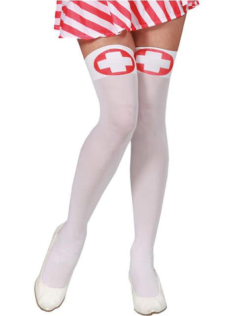 Strømper til sexy sygeplejerske
