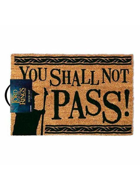 Felpudo de Not Pass - El Señor de los Anillos