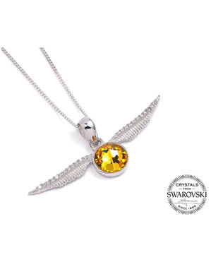 Colgante de Harry Potter Snitch dorada Swarovski