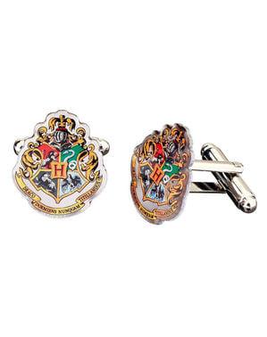 Botões de punho de Hogwarts para homem - Harry Potter
