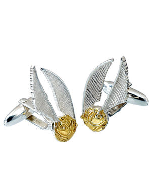 Golden Snitch Sterling Silver Cufflinks for Men - Harry Potter