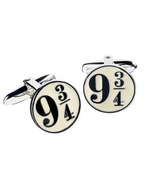 Harry Potter Platform 9 and 3/4 manchetknoop voor mannen gemaakt van zilver