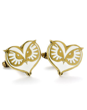 Fantastic Beasts Owl Face cufflinks for men