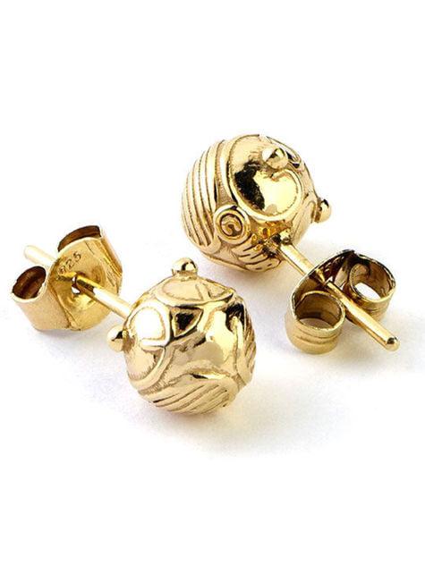 Deluxe Golden Snitch Earrings - Harry Potter