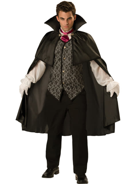 Disfraz de vampiro de la medianoche para hombre