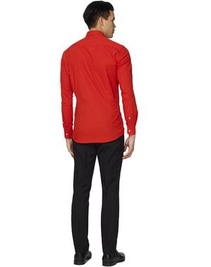 Rød djævel opposuit trøje til mænd