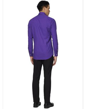पुरुषों के लिए बैंगनी प्रिंस ओपोसिट शर्ट