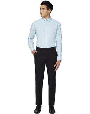 पुरुषों के लिए कूल ब्लू ओपोसिट शर्ट