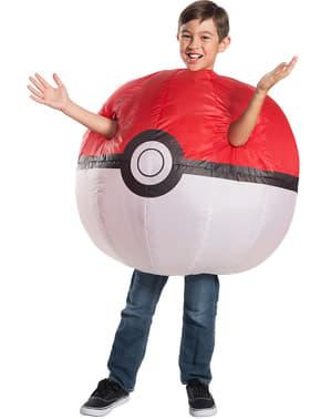 Aufblasbares Poké Ball Kostüm für Kinder - Pokemon