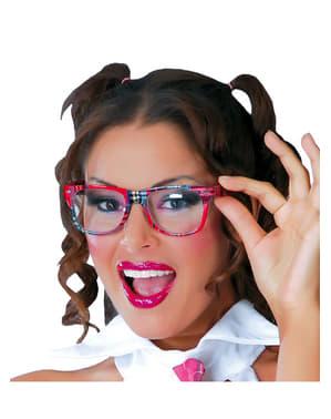 Schulmädchen Brille