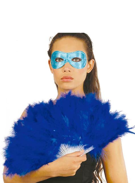 Abanico de plumas azules