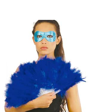 Éventail à plumes bleues