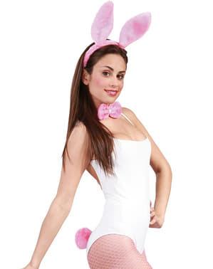 Set med rosa kanin dam