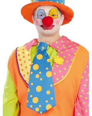 Clown Krawatte Orange Blau