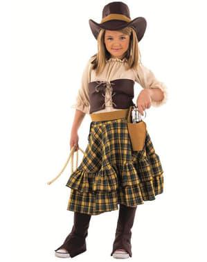 Fato de vaqueira bandida para menina