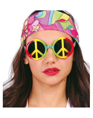 Kleurige hippiebril