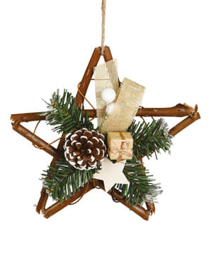 Christmas Star with Pine Cone Tree Decoration