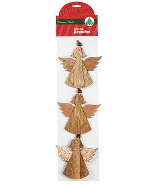 3 ángeles navideños para el árbol