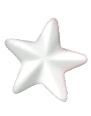 Estrela natalícia branca grande para a árvore de Natal