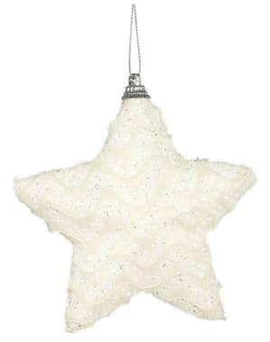 Dekoracja na choinkę kremowa gwiazda
