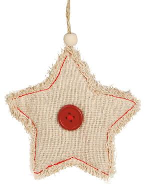 Estrella navideña rústica para el árbol