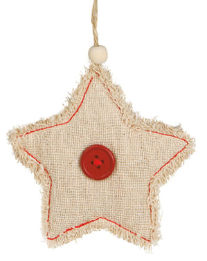 Rustic Star Christmas Tree Ornament