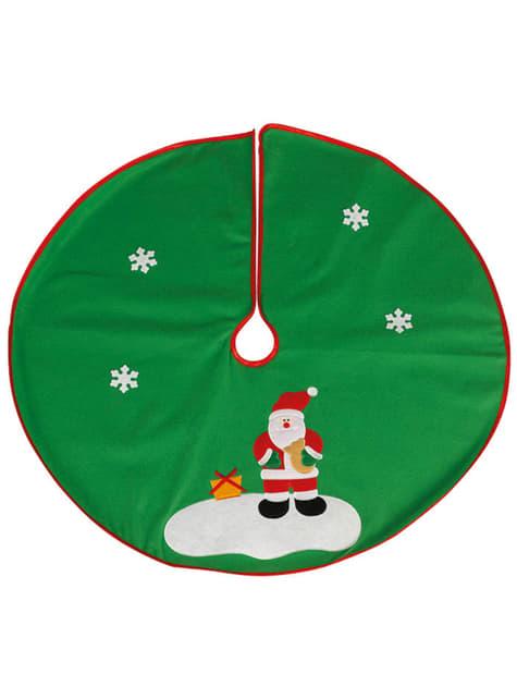 Cubre pies de árbol navideño verde