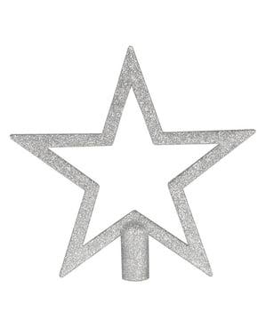 Silver Christmas Tree Star Topper