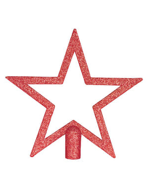 Red Glitter Star Christmas Tree Ornament