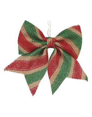 Lazos navideños rojos y verdes para el árbol