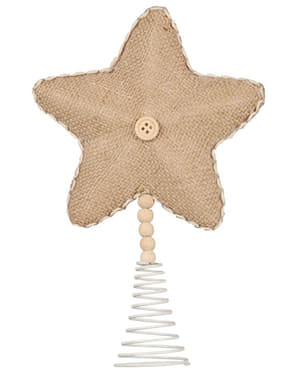 Brown Christmas Tree Star Topper