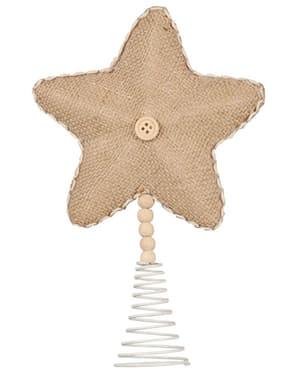 Estrela natalícia castanha para a árvore de Natal