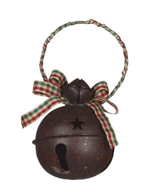 Brown Jingle Bell Tree Ornament