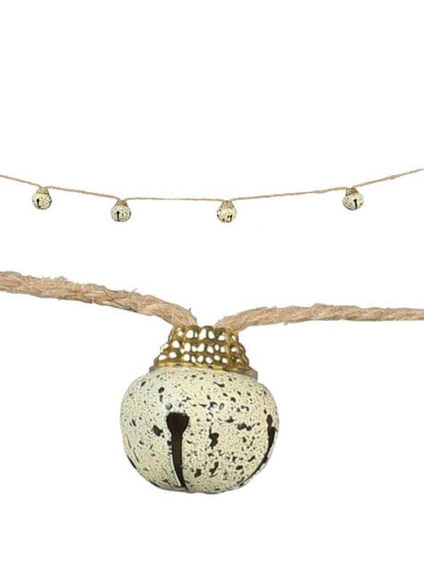 Guirnalda de cascabeles navideños cremas para el árbol
