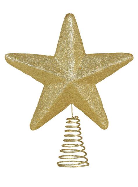 Estrella navideña escarchada para el árbol