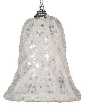 Clopoțel de Crăciun alb pentru brad