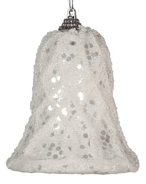 White Bell Christmas Tree Ornament