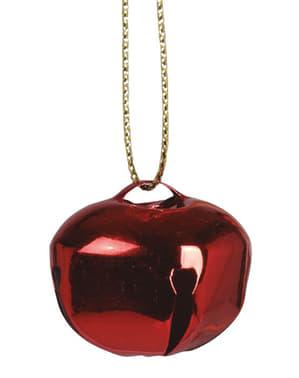 6 Rode Jingle Bell Kerstboom Ornamenten
