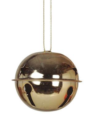 Set de 2 clochettes noël dorées rondes pour le sapin