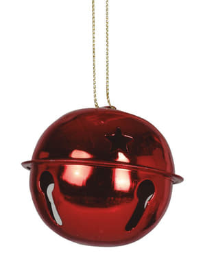 2 Red Jingle Bell Tree Ornaments