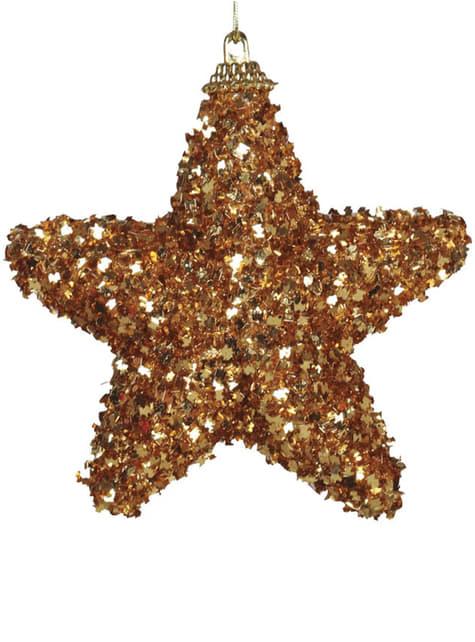 Set de 3 estrellas navideñas doradas para el árbol