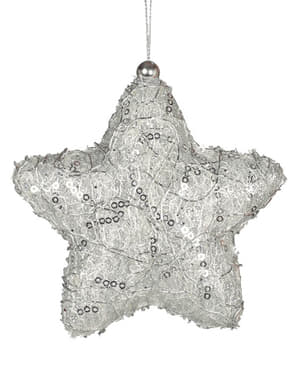 Embellished Silver Christmas Tree Star