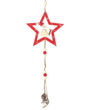Estrela natalícia de Pai Natal para a árvore de Natal